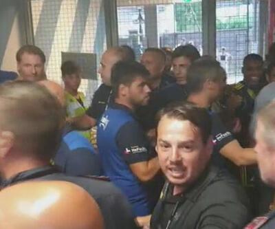 Fenerbahçe - Hertha Berlin maçı sonrası olay çıktı