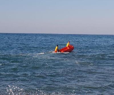 Denizde boğulma tehlikesi geçiren kadın kurtarıldı
