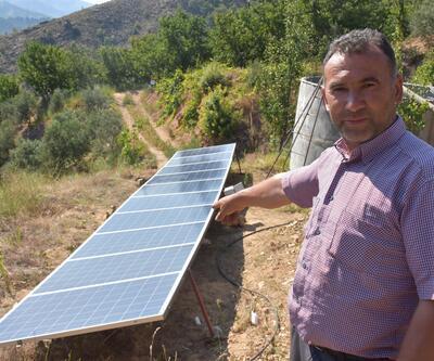 Kiraz bahçesinde kendi elektriğini üretiyor