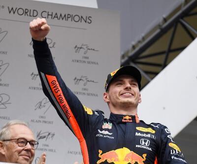 Almanya'da kazanan Max Verstappen