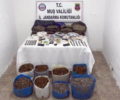 Muş'ta, 25 bin Kalaşnikof mermisi ele geçirildi