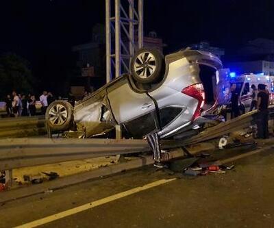 Otomobil ile çarpışan cip, takla attı: 1 ölü, 3 yaralı