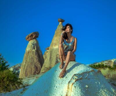 Mankenler Kapadokya'yı keşfetti