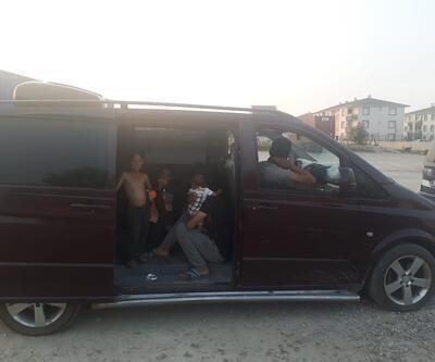 Lüks minibüste yakalandılar