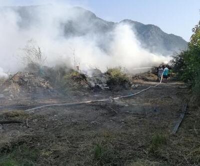 Katı atık sahasında yangın