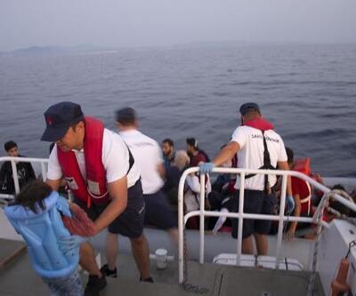 Dikili'de 45 kaçak göçmeni Sahil Güvenlik uçağı yakalattı