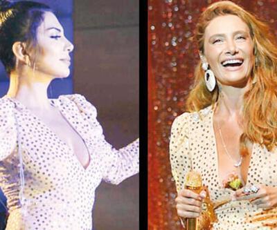 Aynı elbise giydiler