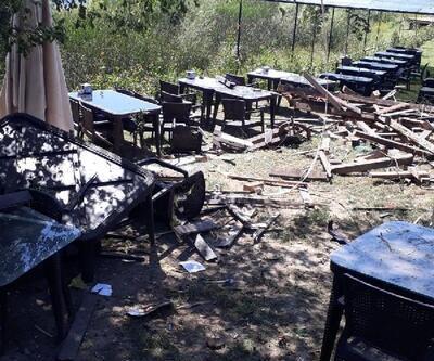Restoran sahibine bomba patlatarak, gözdağı verdiler