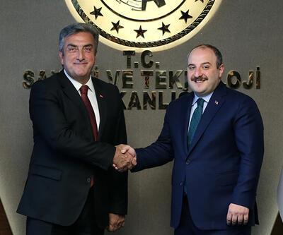 Bakan Varank, Türkiye Uzay Ajansı Başkanı Yıldırım'ı kabul etti