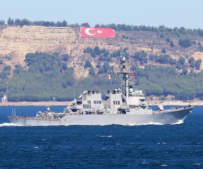 ABD donanmasına ait gemi, Çanakkale Boğazı'ndan geçti