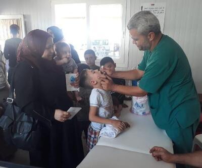 Suriye'ye bayramlaşmaya giden 1601 çocuğun eksik aşısı tamamlandı