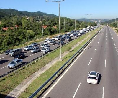 Bolu'da bayram tatili trafiği