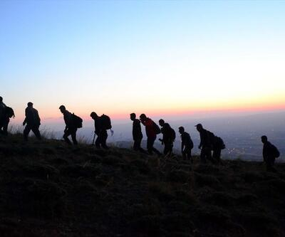 Dağcılar Nemrut Dağı'nda zirve yaptı