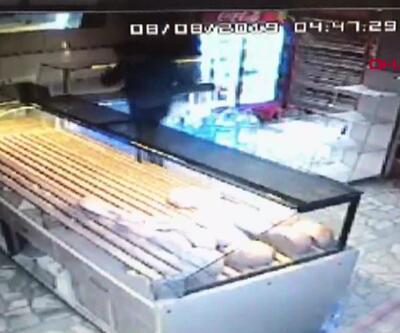 Fırında hırsızlık kamerada