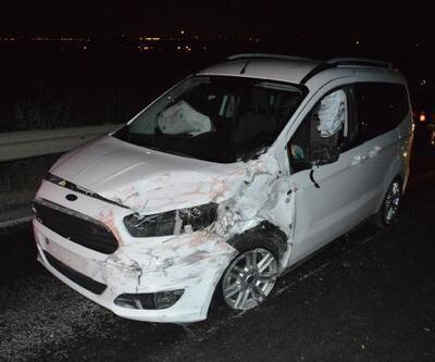 Çubuk'ta zincirleme kaza: 1 ölü, 2 yaralı