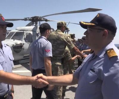 Türk Donanması Kıbrıs'ta vatan görevinde