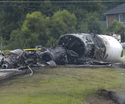 Feci kaza! Ünlü yarışçı ve ailesinin bulunduğu uçak bu hale geldi