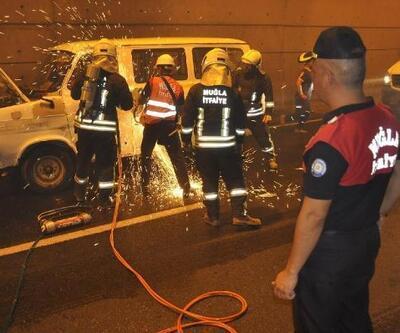 Muğla'da kaza ve yangın tatbikatı