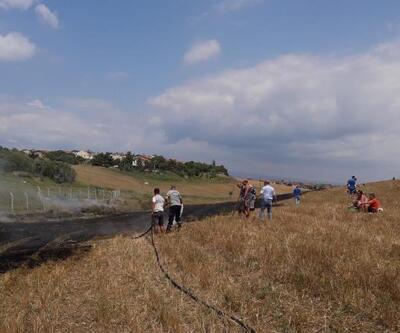 Gelibolu'da anız yangını korkuttu