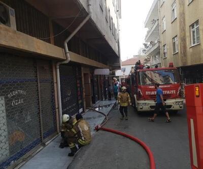 Ümraniye'de tekstil atölyesinde yangın