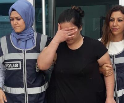 Suç makinesi kadın mangalda yakalandı