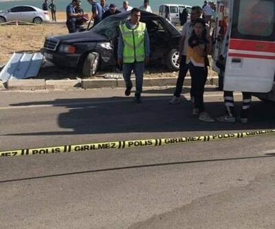 Gölova'da iki otomobil çarpıştı: 1 ölü, 4 yaralı