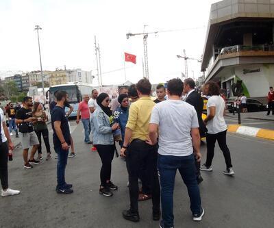 Taksim'de yaşandı! Taksici, çarptığı turist kadını darbetti!