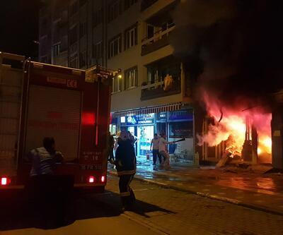 Bursa'da iş yeri yangını