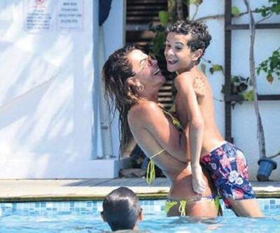 Özlem Yıldız'ın Bodrum tatili devam ediyor