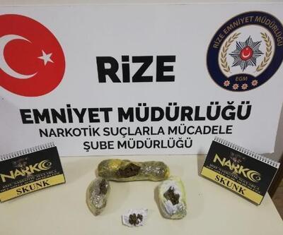 Rize'de uyuşturucu operasyonu: 3 gözaltı