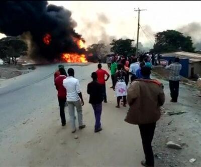 Uganda'da petrol tankeri patladı 10 ölü