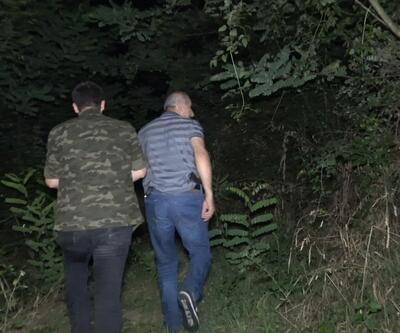 Gasp şüphelisi 1'i kadın 2 şüpheli yaya olarak ormanlık alana kaçtı