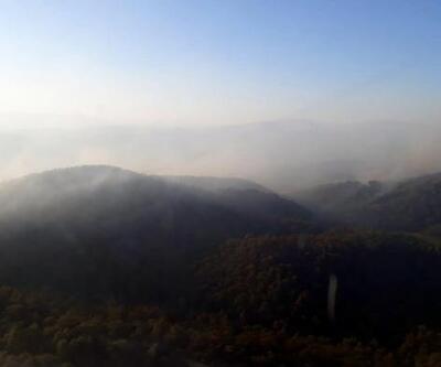 İzmir'deki orman yangınını söndürme çalışmaları sürüyor