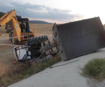 Traktörün altına kalan sürücü öldü
