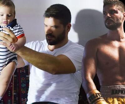 Tolgahan Sayışman rolünü üç buçuk aylık oğluyla oynadı