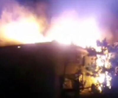 Seben'de 2 ev yandı