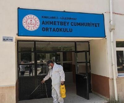 Lüleburgaz'da okullara, dezenfeksiyon çalışmaları yapılıyor