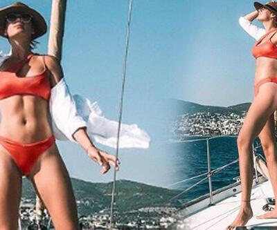 Gizem Karaca'dan bikinili pozlar