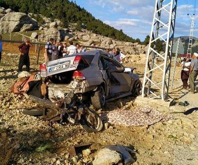 Motosiklet ile otomobil çarpıştı: 1 ölü, 1 yaralı