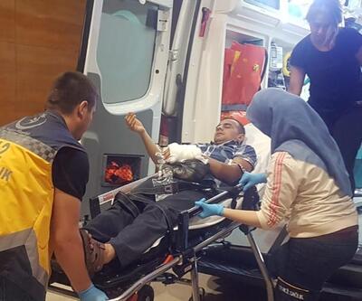 Kolunu makineye kaptıran genç ağır yaralandı