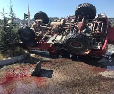 Kahramanmaraş'ta arazöz devrildi: 3 yaralı