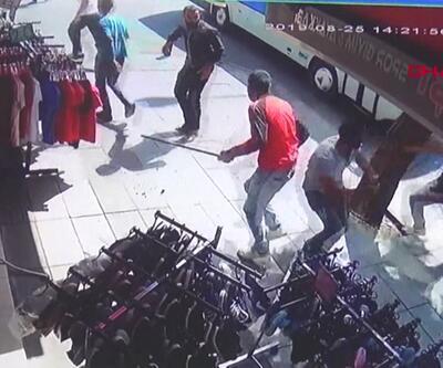 Suriyelilerin kavgası kamerada