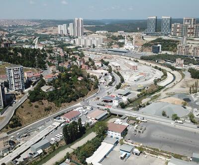 İstanbul'da 30 gün kapalı kalacak yol havadan görüntülendi