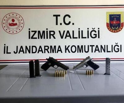 Beydağ'da 2 ruhsatsız tabanca ele geçirildi