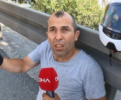 Esenler'de motosiklete çarpan otomobil sürücüsü kaçtı