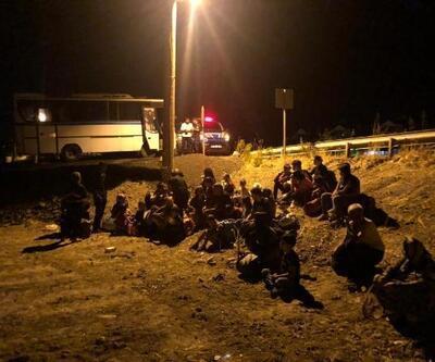 Balıkesir'de 137kaçak göçmen ve 2 organizatör yakalandı
