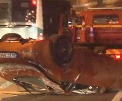 Gece yarısı TEM'de kaza!