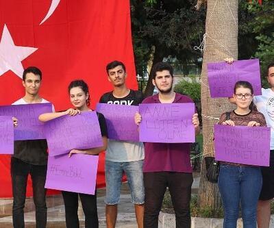 Kadına şiddeti protesto ettiler