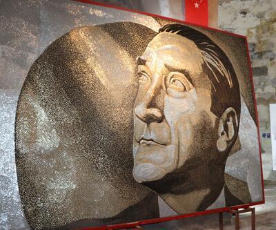 250 bin vidayla yapılan Atatürk portresi Guinness'e girdi