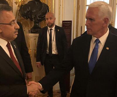 Cumhurbaşkanı Yardımcısı Fuat Oktay, Mike Pence ile görüştü